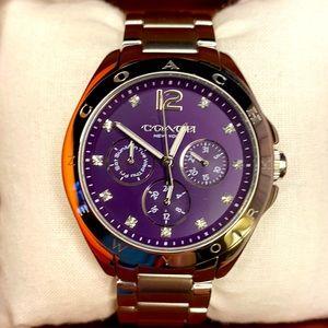 Coach Purple Face Bracelet Watch